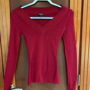 Express Red v-neck sweater